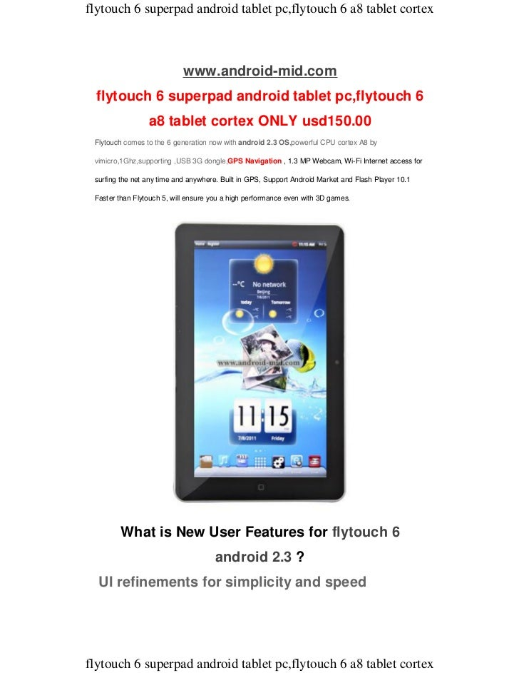 flytouch 6 superpad android tablet pc,flytouch 6 a8 tablet cortex                            www.android-mid.com flytouch ...