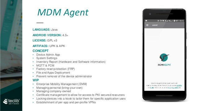 Take control back on Android devices with Flyve MDM, OW2con'18, June …
