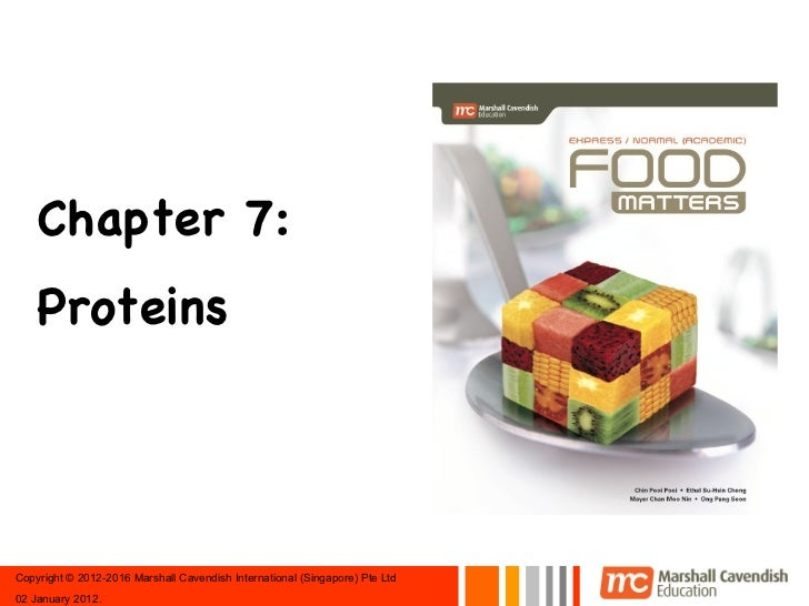 Chapter 7:    ProteinsCopyright © 2012-2016 Marshall Cavendish International (Singapore) Pte Ltd02 January 2012.