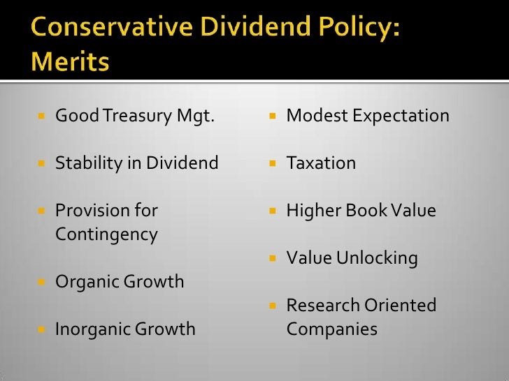 """dividend policy good Dividend and payout policy a change in dividend policy does not change the size of the firms because """"good"""" firms suffer less from the costs of these."""