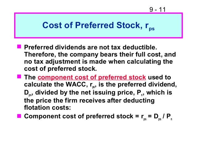 calculation of preferred dividends