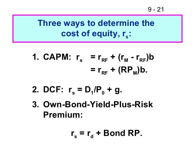 the cost of equity capital and the capm essay We use the capm to estimate market value of equity= 11,4274 m book value of debt = 1,2966 m  inc: cost of capital essay case study - nike sweatshops inc essay.