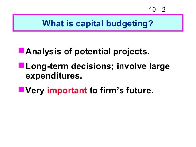 the basics of capital budgeting evaluation 1 defines its strategic direction because moves into new products, services, or markets must be preceded by capital expenditures 2 the results of capital budgeting decisions continue for many years, reducing flexibility.
