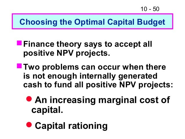 optimal capital budget Recommended budget practices: a framework for improved state and local government budgeting 22 assess capital assets, and identify issues, opportunities.