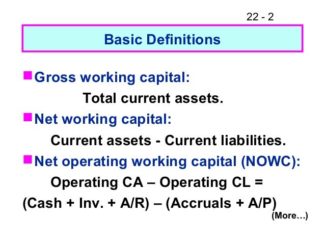 Fm11 ch 22 working capital management
