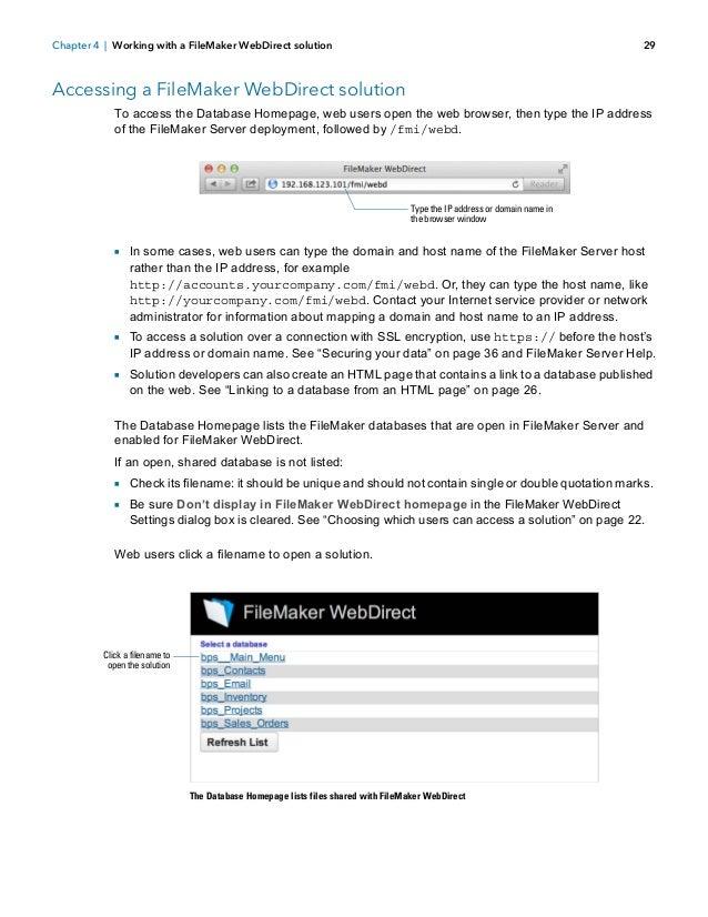 Fm13 webdirect guide