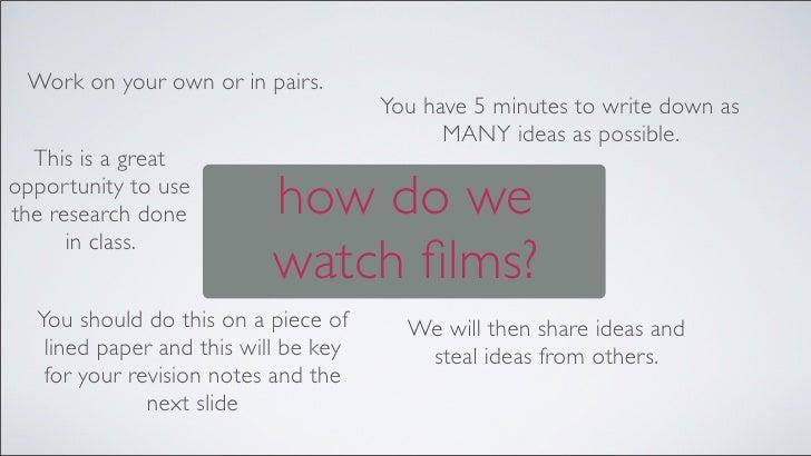 Film studies essays