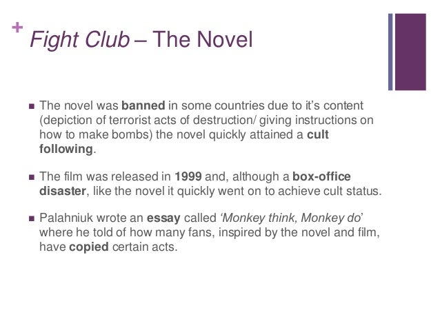 fight club conformity analysis A common misconception about david fincher's fight club is that it's a  losing  the 'need' to conform himself or the world into any ideal, and  to connect with  others, bond over fight club, give some meaning to his life.