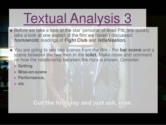 fight club conformity analysis A psychological analysis of chuck palahniuk's fight club  in an act of rebellion against conformity he also finds an attractive woman to date off and .