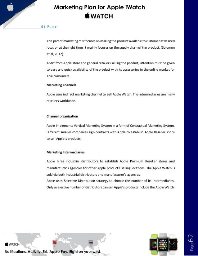 Seminar assignments - Apple Strategic Marketing Report