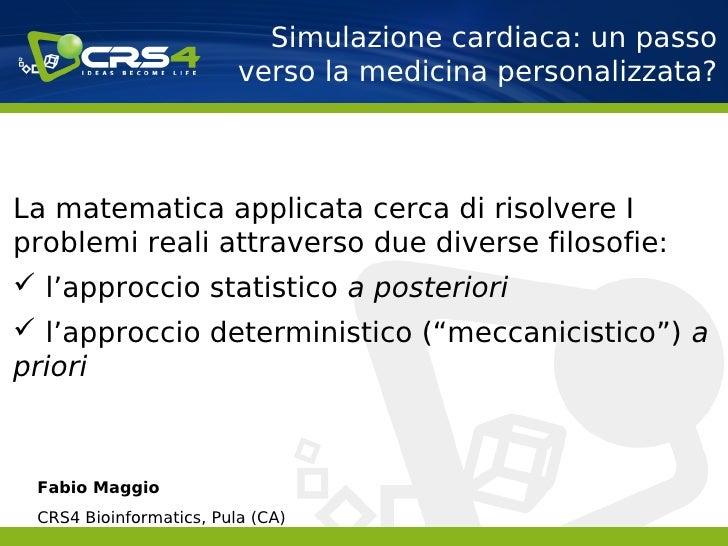 Simulazione cardiaca un passo verso la medicina for Simulazione medicina