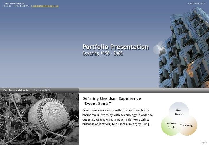Portfolio 1998 - 2006