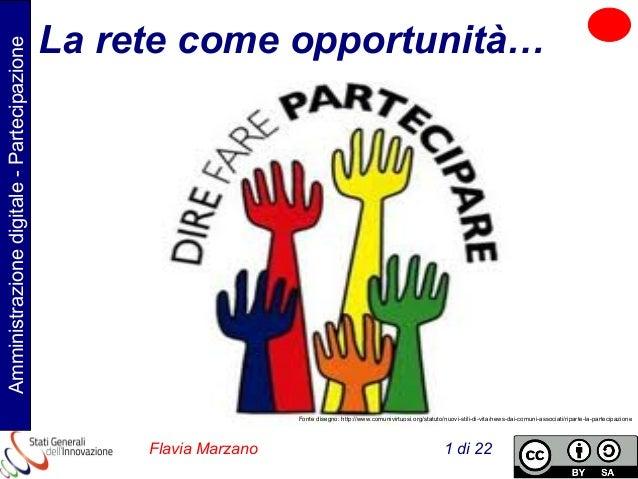 Amministrazione digitale - Partecipazione  La rete come opportunità…  Fonte disegno: http://www.comunivirtuosi.org/statuto...