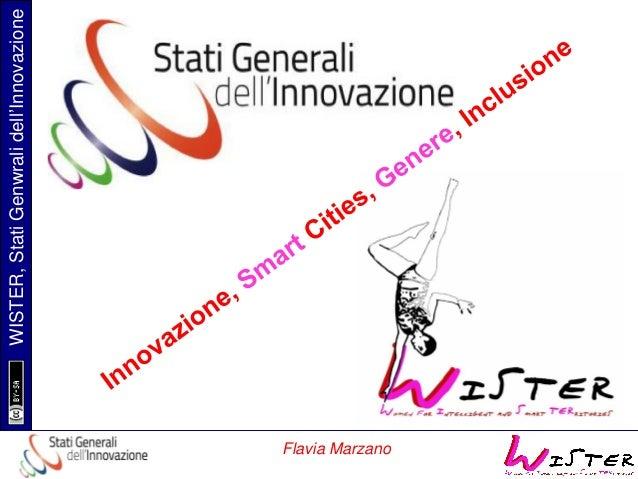 Flavia Marzano  WISTER, Stati Genwrali dell'Innovazione