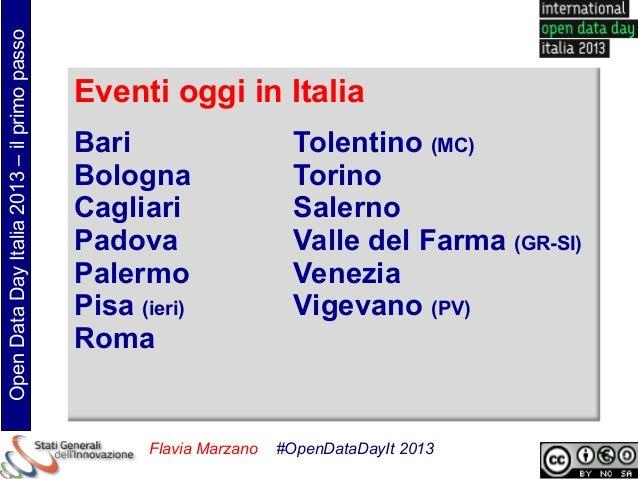 Open Data Day Italia 2013 – il primo passo                                             Eventi oggi in Italia              ...