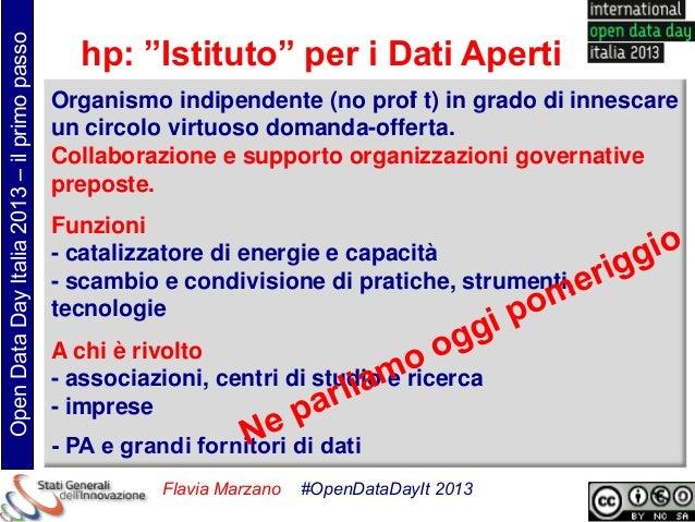 """Open Data Day Italia 2013 – il primo passo                                               hp: """"Istituto"""" per i Dati Aperti ..."""