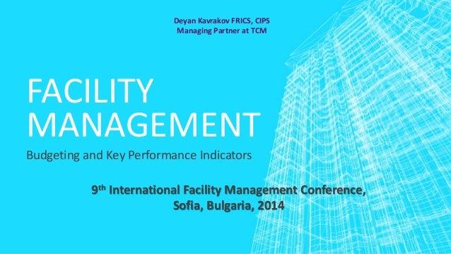 Facility Management Budgeting and Key Performance Indicators Slide 1