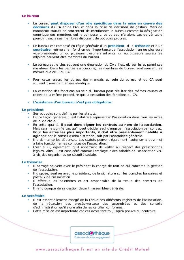 Fm Bureau Association Loi 1901