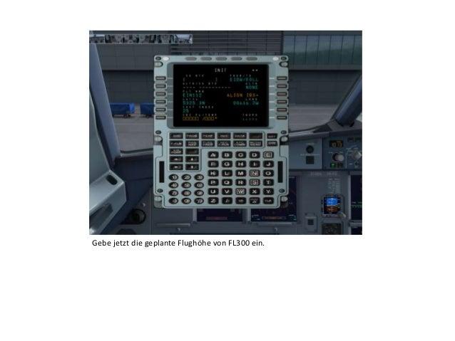 Gebe jetzt die geplante Flughöhe von FL300 ein.