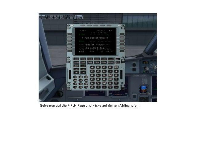 Gehe nun auf die F-PLN Page und klicke auf deinen Abflughafen.