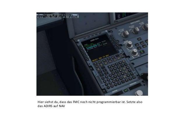 """FMC Tutorial """"Programmierung für den Take-Off"""" Aerosoft AXE Slide 2"""
