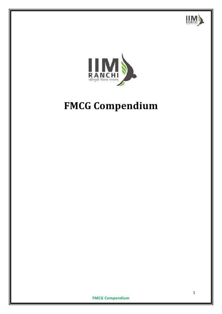 FMCG Compendium                      1    FMCG Compendium
