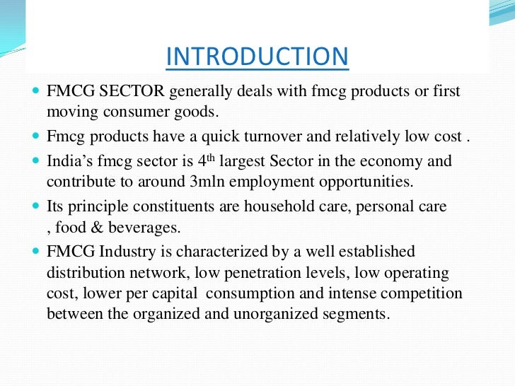 introduction of fmcg industry