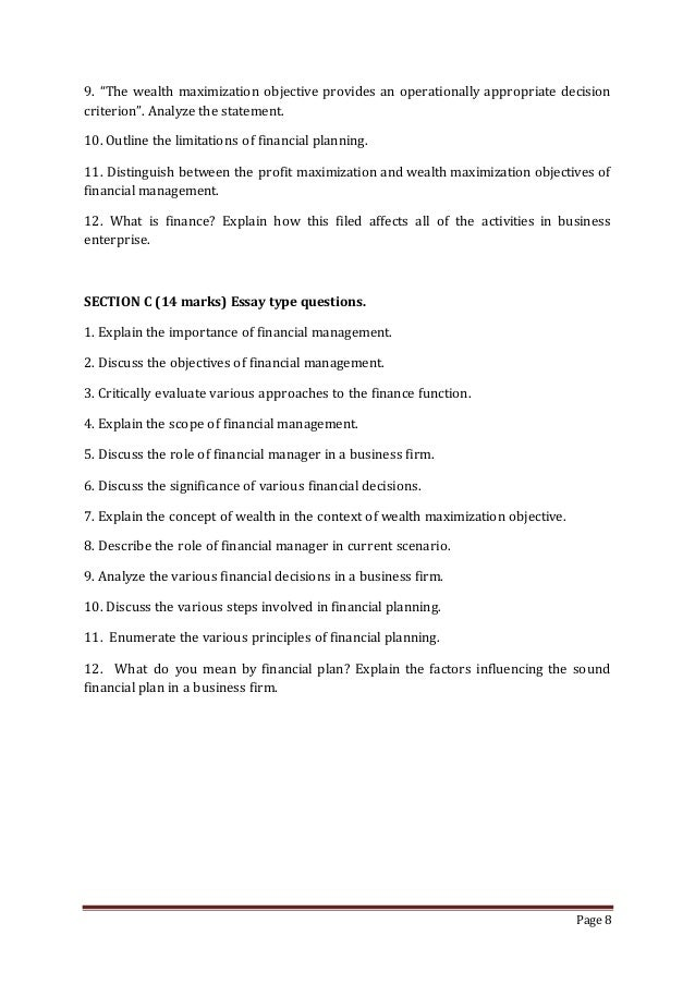 financial management notes essay Financial management 1 financial management 2 definition of financial management complete note kabul university financial management ppt.
