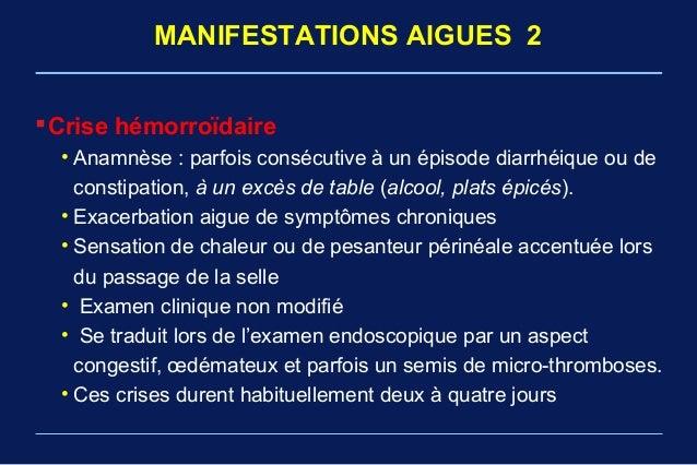 symptomes crise hemorroidaire