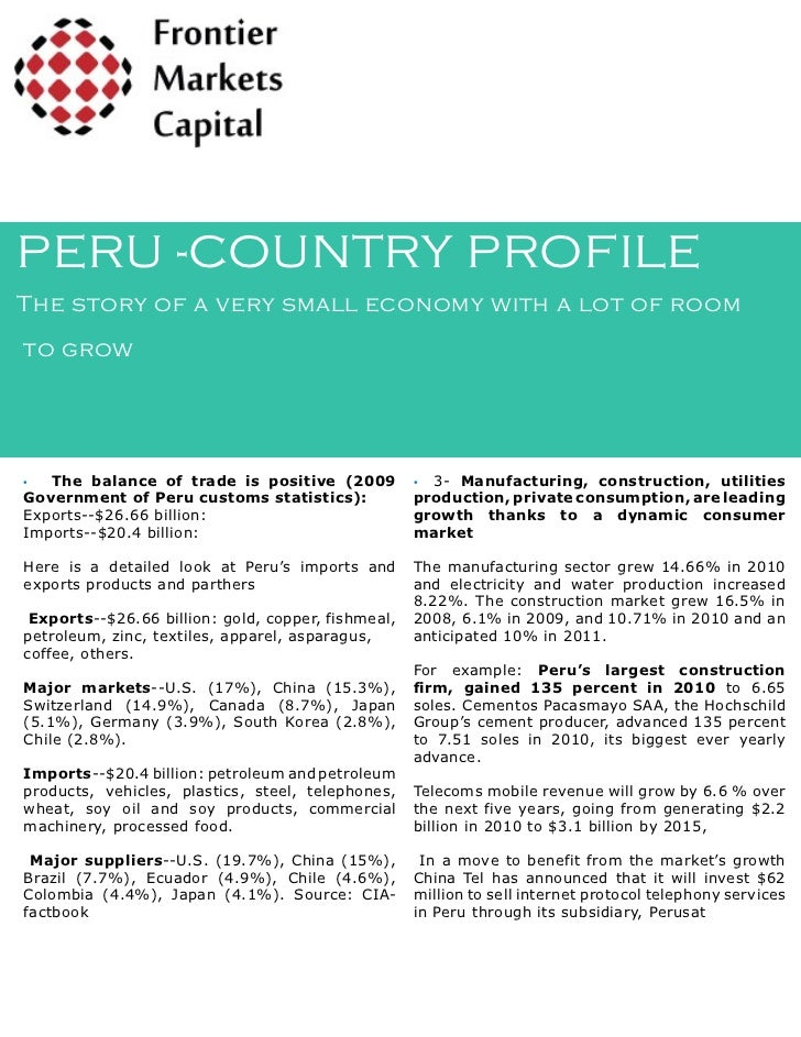 Peru Country Profile