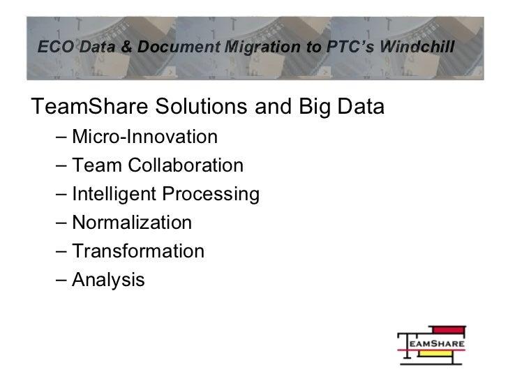 <ul><li>TeamShare Solutions and Big Data </li></ul><ul><ul><li>Micro-Innovation </li></ul></ul><ul><ul><li>Team Collaborat...