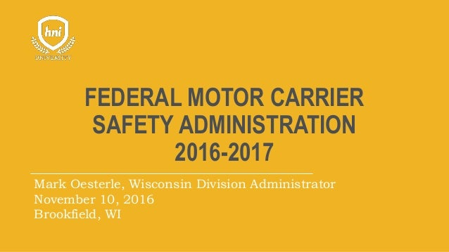 Fmcsa wisconsin state patrol update 2016 for The federal motor carrier safety administration