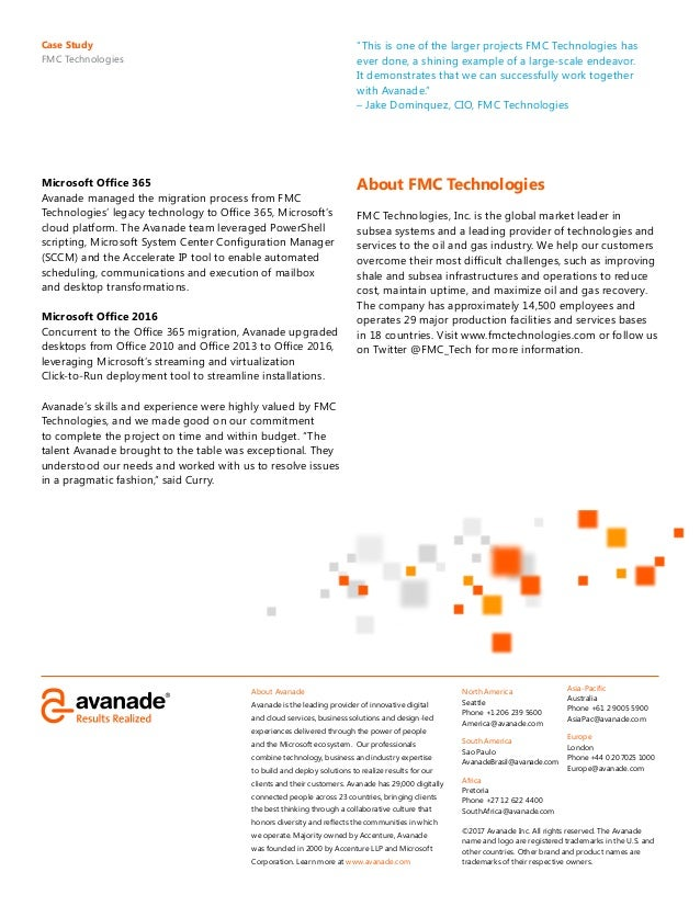 FMC Technologies Leverages the Cloud to Drive Workplace Efficiencies Slide 2