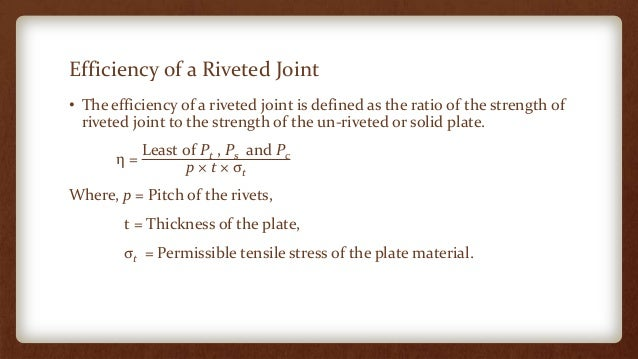 Fmd riveted joints