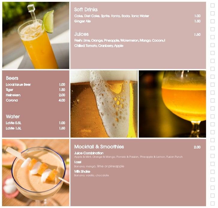 Signature Tea Cocktails                                            3.50                                                   ...