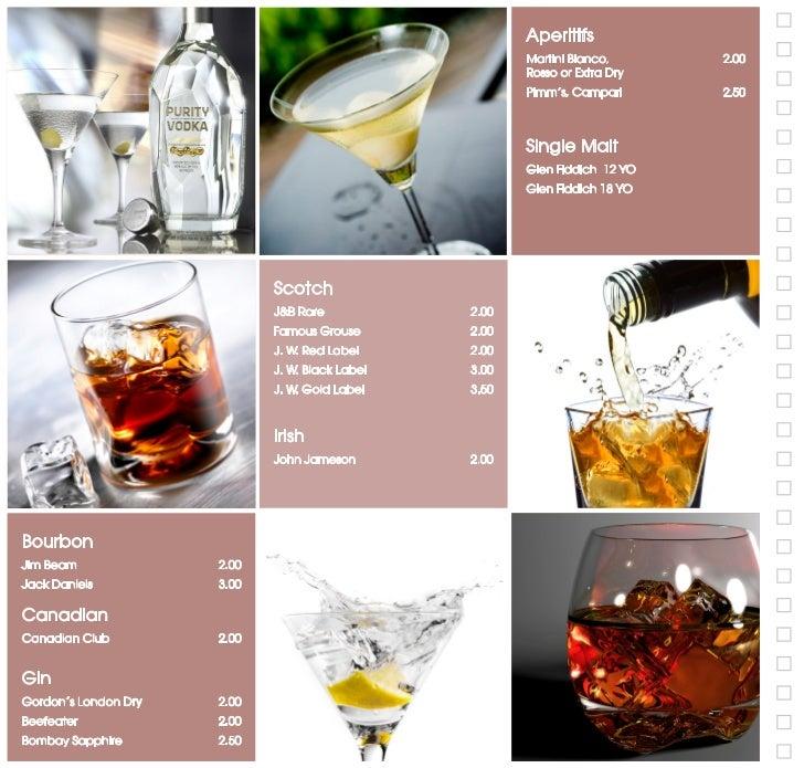 Rum                                                       Bacardi Carta Blanca               2.00                         ...