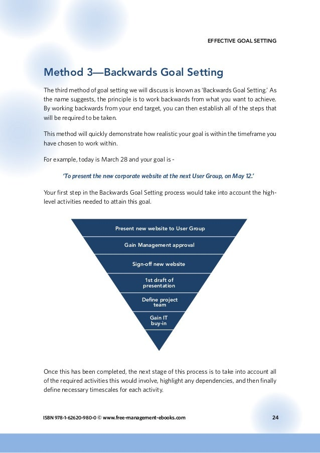 goal setting in successful emergency management Goal-setting theory of motivation organizations and management practice (locke & latham the first key to successful goal setting is to build and reinforce.