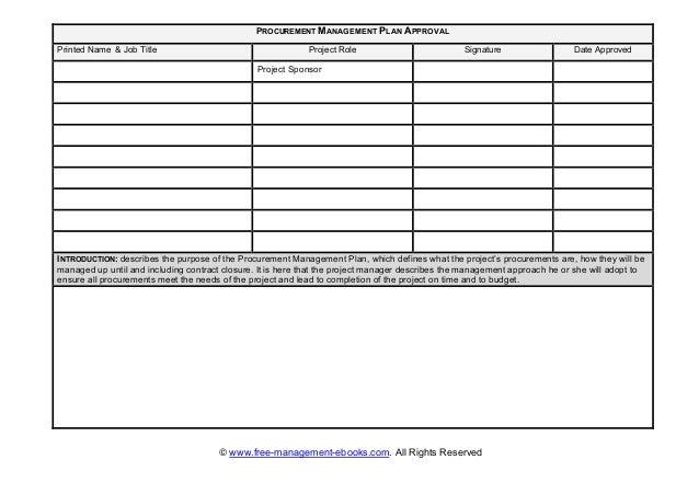 Fme procurement-plan-template.