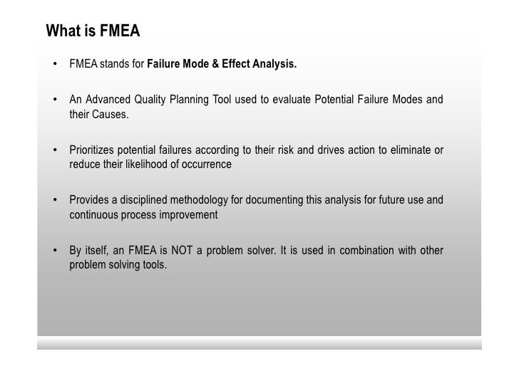 Failure Mode & Effect Analysis