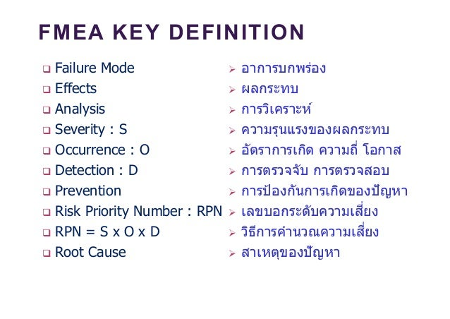 Risk Management By Using Fmea
