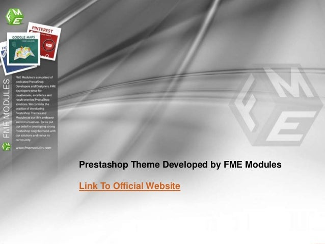 Prestashop Theme Developed by FME ModulesLink To Official Website