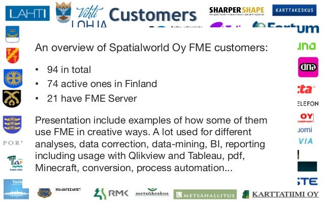 Finns Using FME Like Crazy