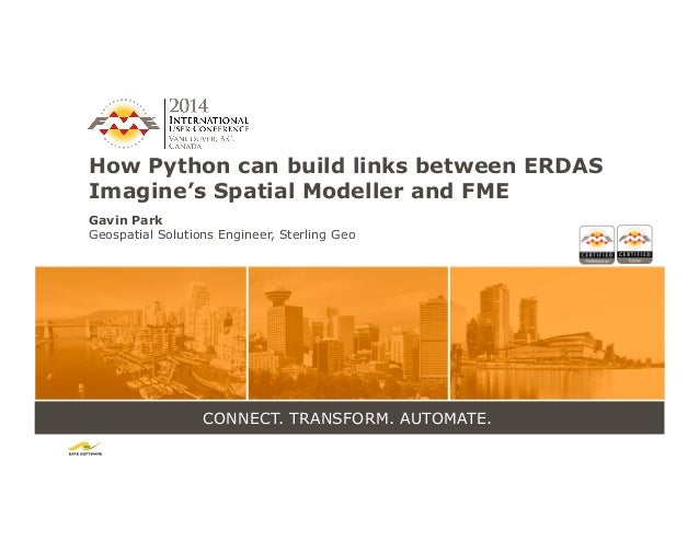 How Python can Build Links Between Erdas Imagine's Spatial Modeller a…