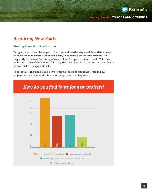 Font Trends Survey REport