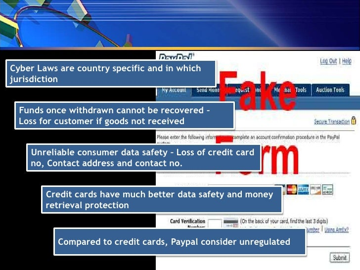 what are some of the risks using paypal when compared to credit cards and debit cards Payments 101: credit and debit credit and debit cards made up - american express® and discover® - and those companies assume the risk of extending credit to.