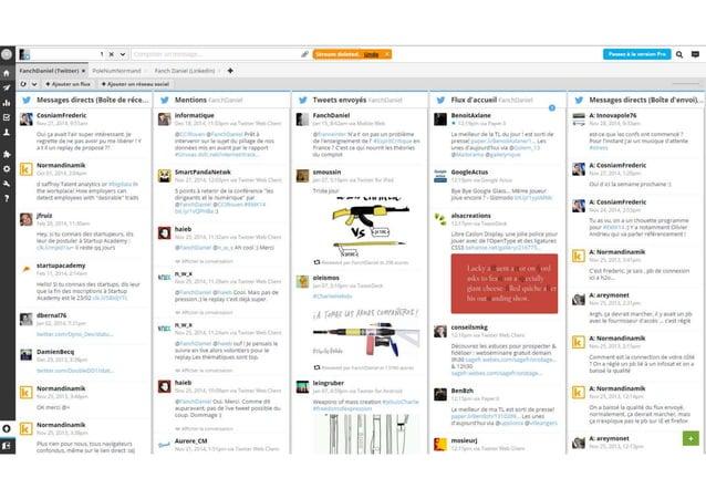 Facebook et twitter pour les professionnels