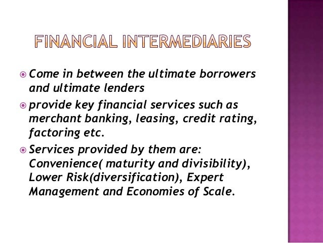 contemporaty financial intermediaries ch1