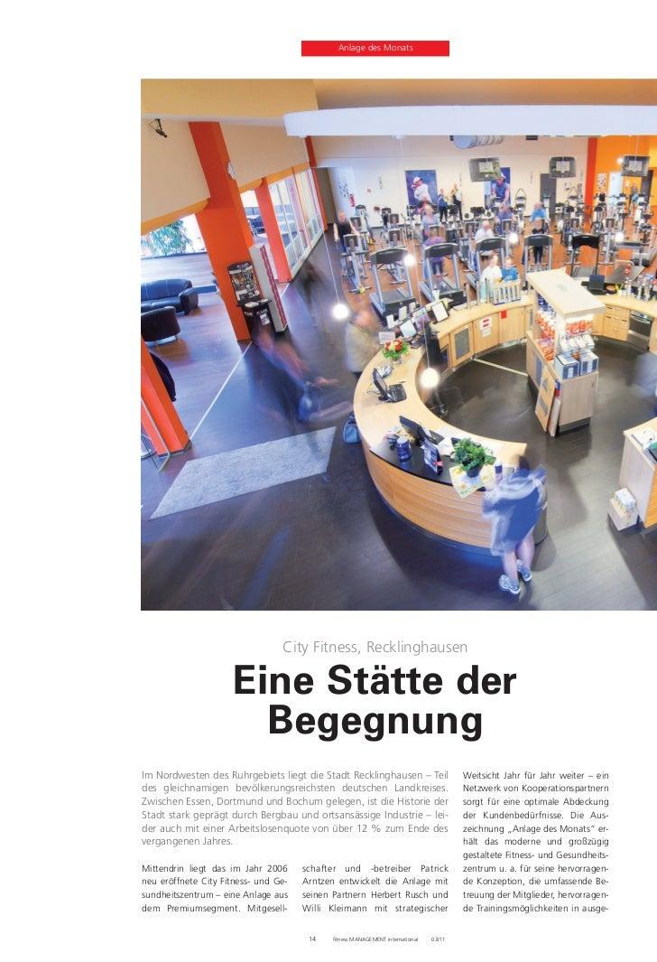 city fitness recklinghausen in den medien 1. Black Bedroom Furniture Sets. Home Design Ideas