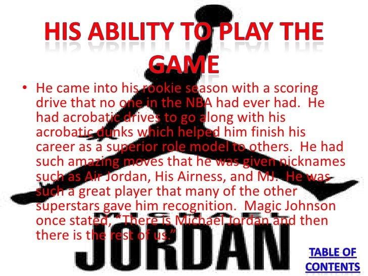 michael jordan role model