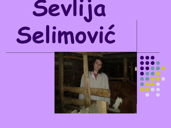 Sevlija Selimović